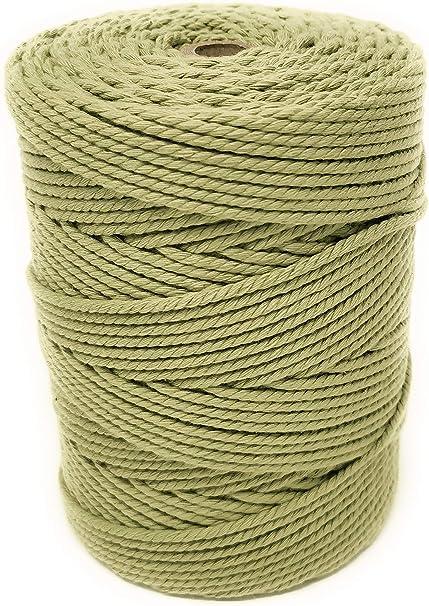 Macramé - Bobina de hilo de macramé de algodón de 3 mm y 6 mm ...