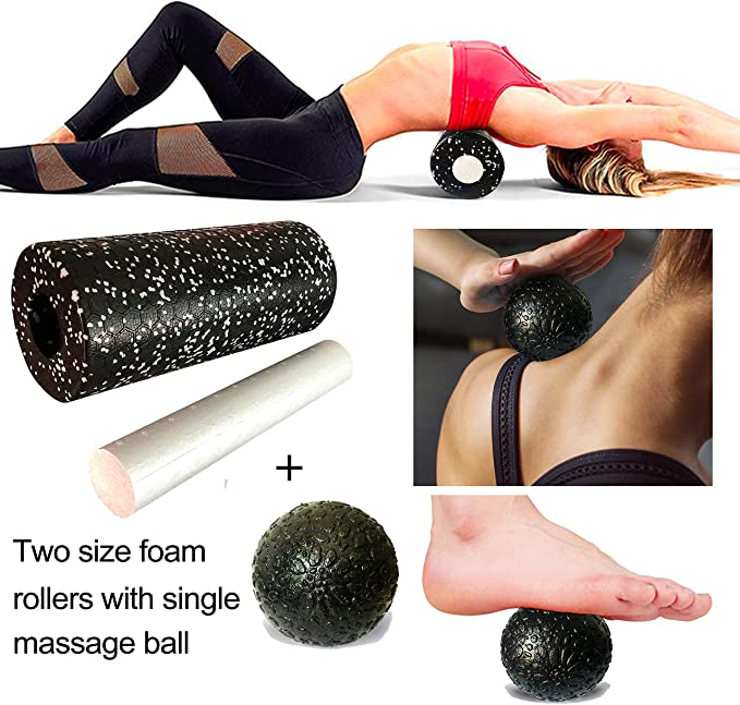 Exercise High Density Muscle Roller for Physical Therapy Deep Tissue Muscle Massage of The Back and Leg Muscles OGOGO Foam Roller