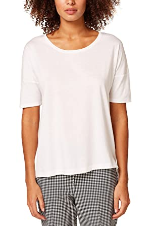 db028b20083a30 ESPRIT Women's Short Sleeve Shirt, White (Off 110), X-Small
