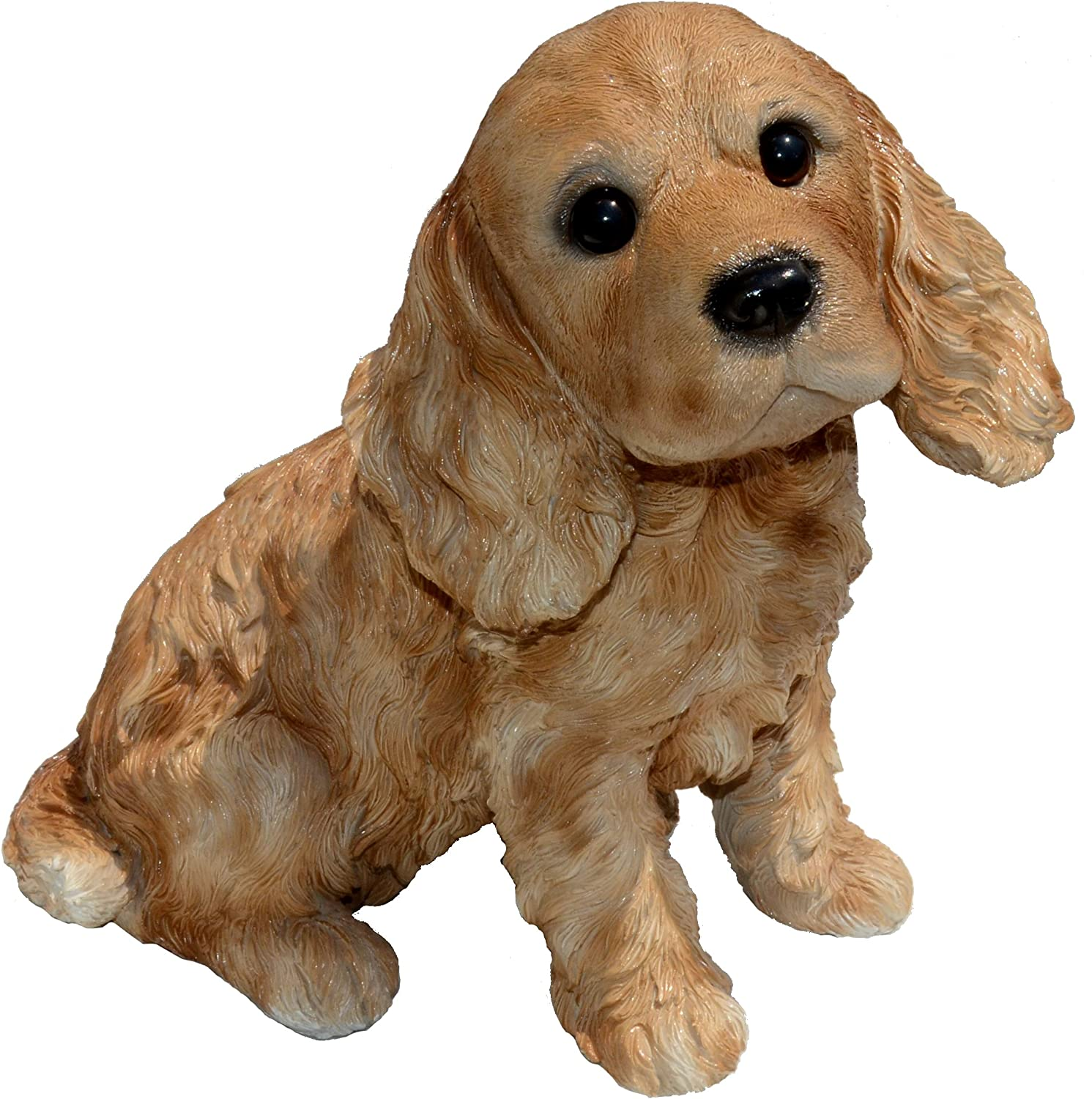 Michael Carr Designs Cocky-Cocker Spaniel Puppy M Brown Outdoor Puppy Dog Figurine for Gardens, patios and lawns (80095)
