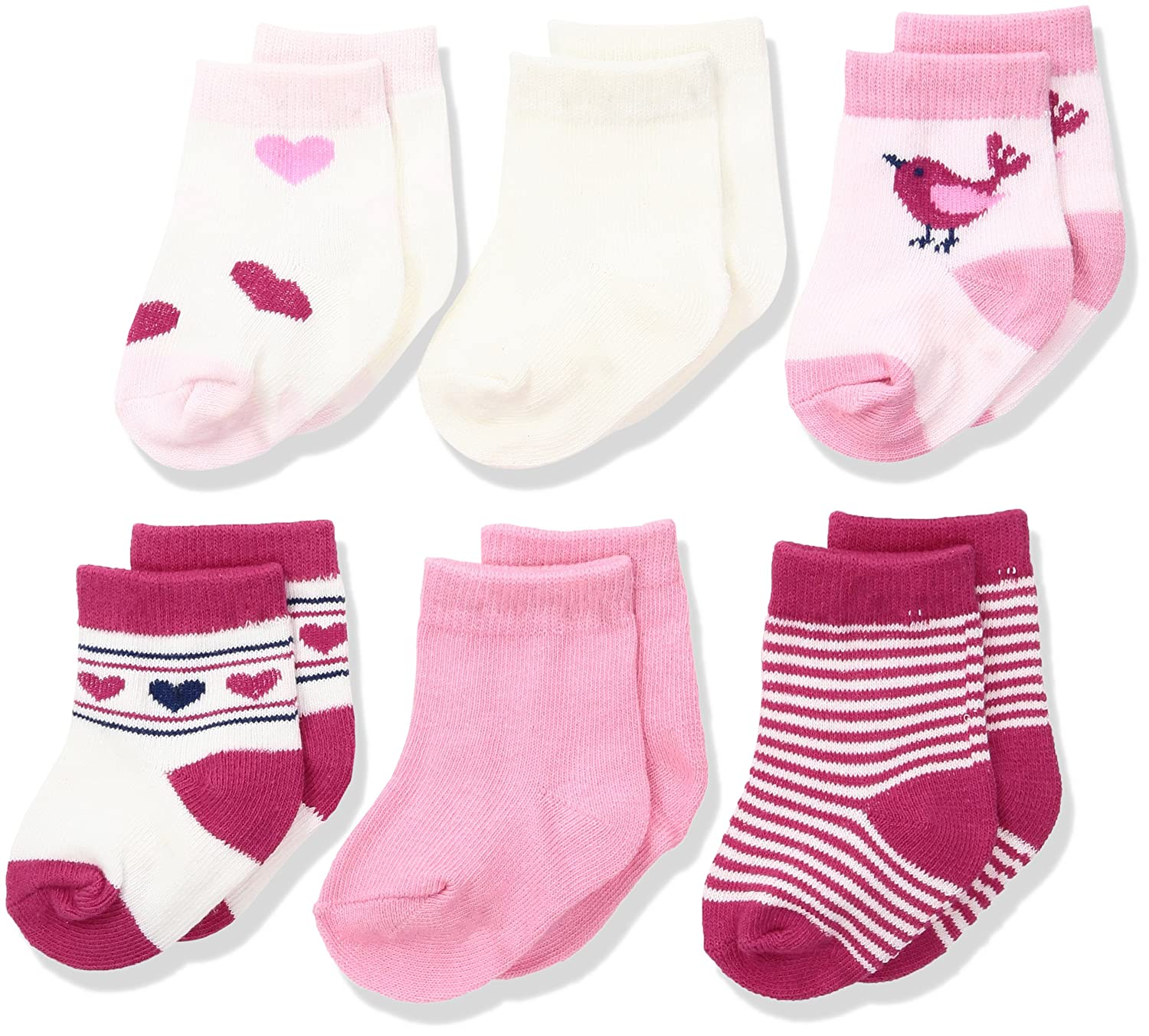 Amazon Rene Rofe Baby Baby 6 Pair of Socks on Header Card Clothing