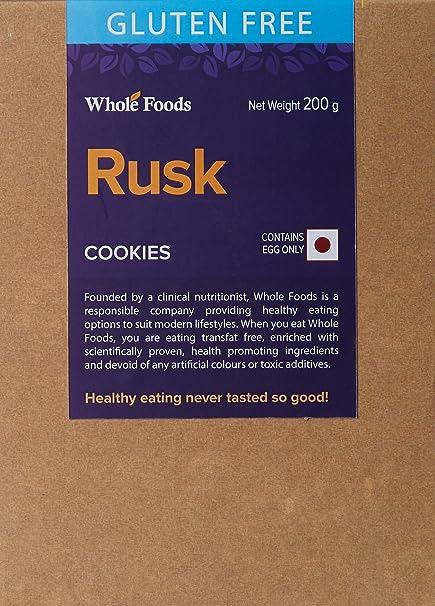 whole foods gluten free rusk non veg 200g