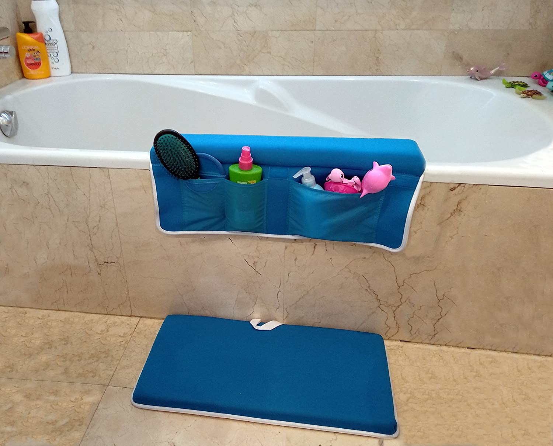 Kneeler für Badwanne - Ellbogenstütze | Baby Kniende Badematte | Mehrzweck Kniekissen mit Ellenbogenkissen fur Kinder Badewannen Sicherheit | Saugnäpfe, Rutschfestes, Taschen, Leicht zu Reinigen Best Purchase