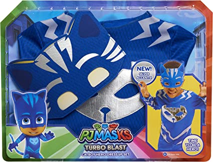 PJ Masks Conjunto de disfraz Turbo Blast - Catboy: Amazon.es ...