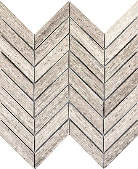 Emser Tile M05metrcr1212mcv Carrelage Mural En Marbre Motif Chevron Amazon Fr Bricolage