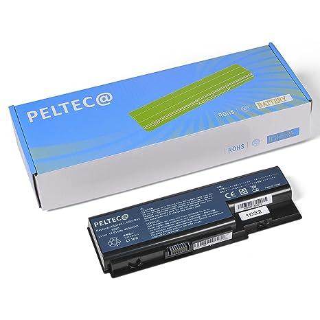 PELTEC@ - Batería de repuesto para portátil Acer Aspire 5930 6530 6920 6930 6935 (14,8 V, equivalente a baterías AS07B31, AS07B71, AS07B32, AS07B51, ...