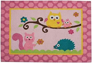 Dena Happi Tree Rug, Pink (Discontinued By Manufacturer)