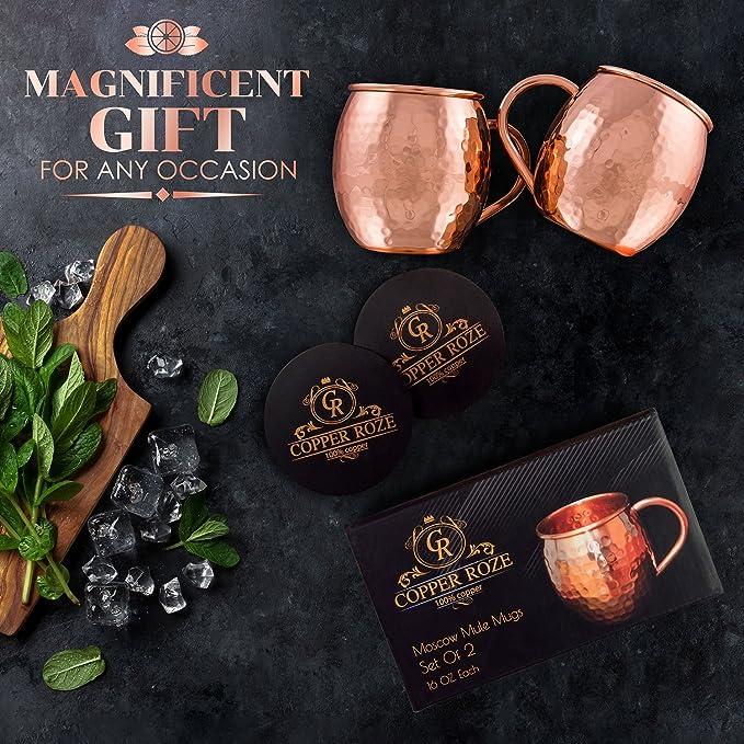 Amazon.com: Set de regalo de 2tazas de cobre Moscow ...