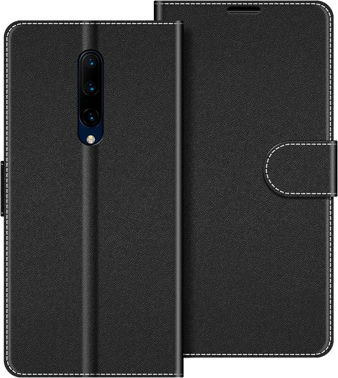 COODIO Funda OnePlus 7 Pro con Tapa, Funda Movil OnePlus 7 Pro, Funda Libro OnePlus 7 Pro Carcasa Magnético Funda para OnePlus 7 Pro, Negro: Amazon.es: Electrónica