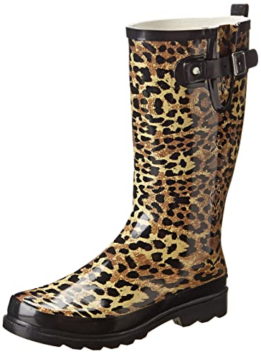 8c0a7aa277ce Western Chief Women s Leopard Exotic Rain Boot Black  Buy Online at ...