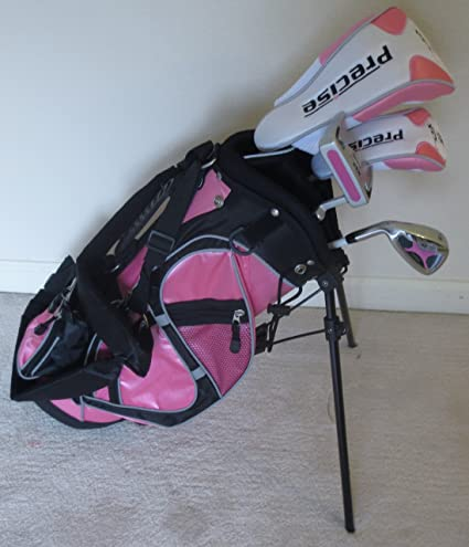 Amazon Com Left Handed Girls Junior Golf Club Set With Stand Bag For Kids Ages 3 6 Pink Color Lh Premium Professional Quality Sports Outdoors