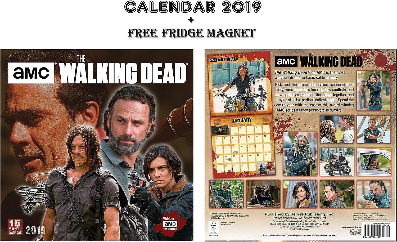 THE WALKING DEAD OFFICIAL CALENDARIO 2019 INCLUDING THE WALKING DEAD CALAMITA DA FRIGO: Amazon.es: Oficina y papelería