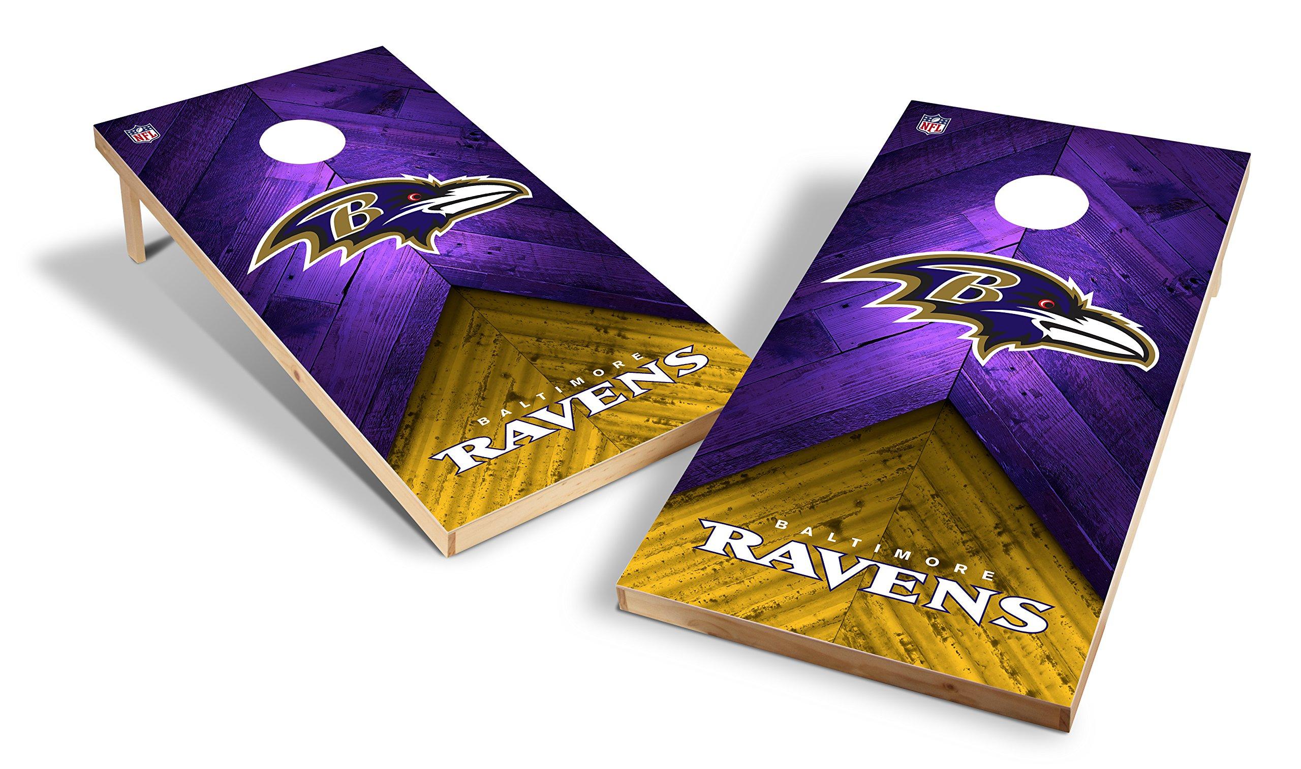 Wild Sports NFL 2'x4' Baltimore Ravens Cornhole Set