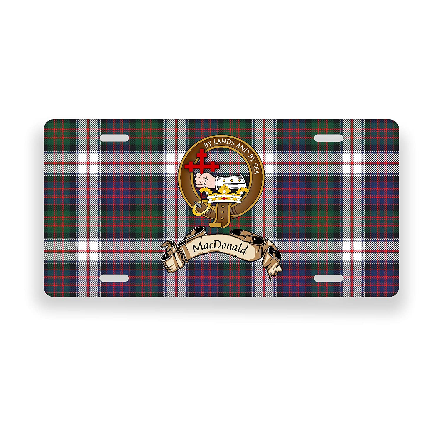 MacDonald Scotland Clan Dress Tartan Novelty Auto Plate