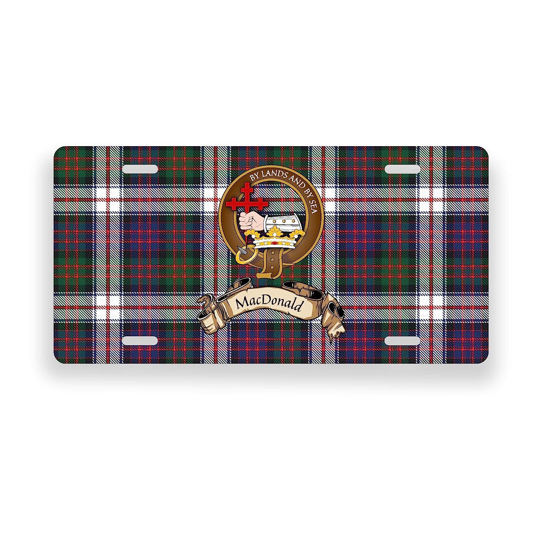 MacDonald Scotland Clan Dress Tartan Novelty Auto Plate