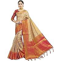 HAOK Sarees voor vrouwen Banarasi Art Silk Indian Gift Geweven Sari | Traditionele Etnische Kerala Saree Met Niet…