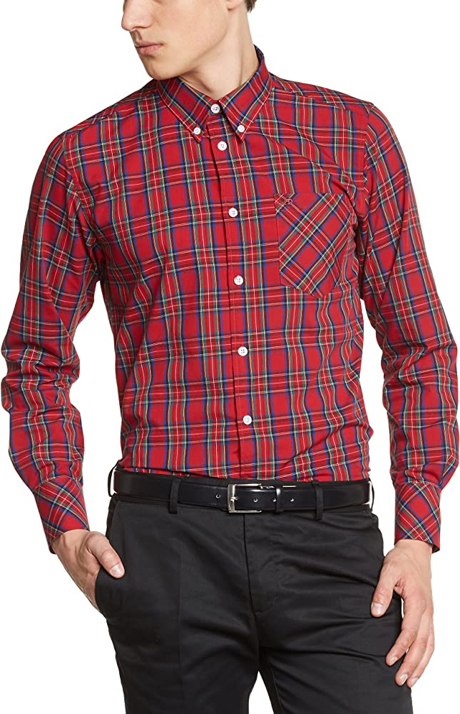 Merc of London Neddy Shirt Camisa, Rouge (Stewart Red), XS para Hombre: Amazon.es: Ropa y accesorios
