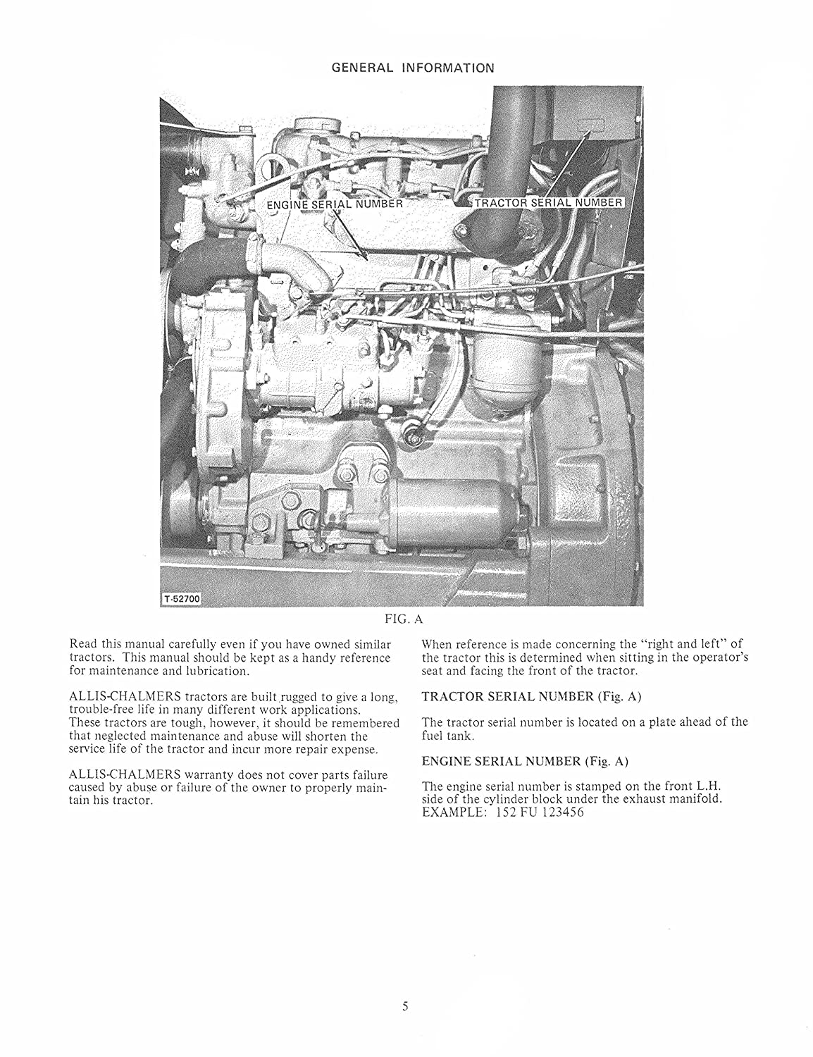 New Operators Manual For Allis Chalmers 160 Tractors Engine Diagram Industrial Scientific