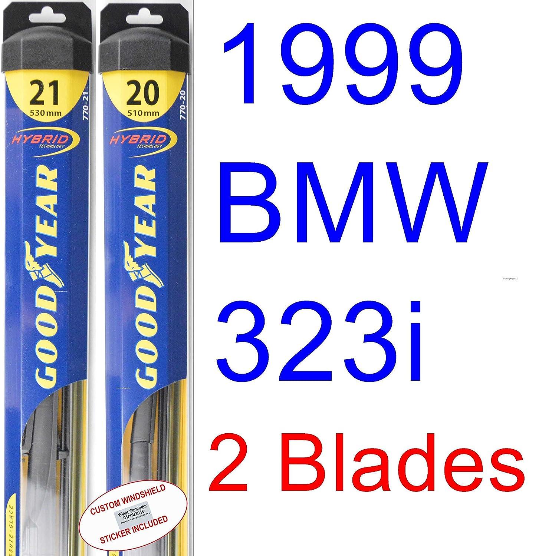 1999 Bmw 323i Convertible de repuesto para limpiaparabrisas Set/Kit (Goodyear limpiaparabrisas blades-hybrid): Amazon.es: Coche y moto