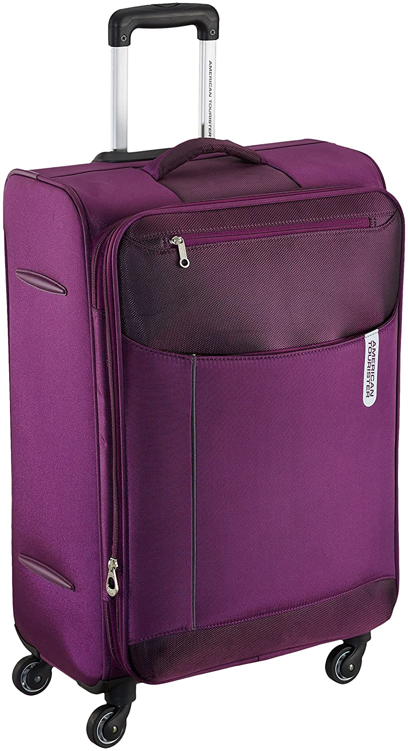 10f50bed6807 American Tourister Portugal Polyester 79 cms Plum Soft Sided Suitcase (AMT  Portugal SP 79CM Plum)  Amazon.in  Bags