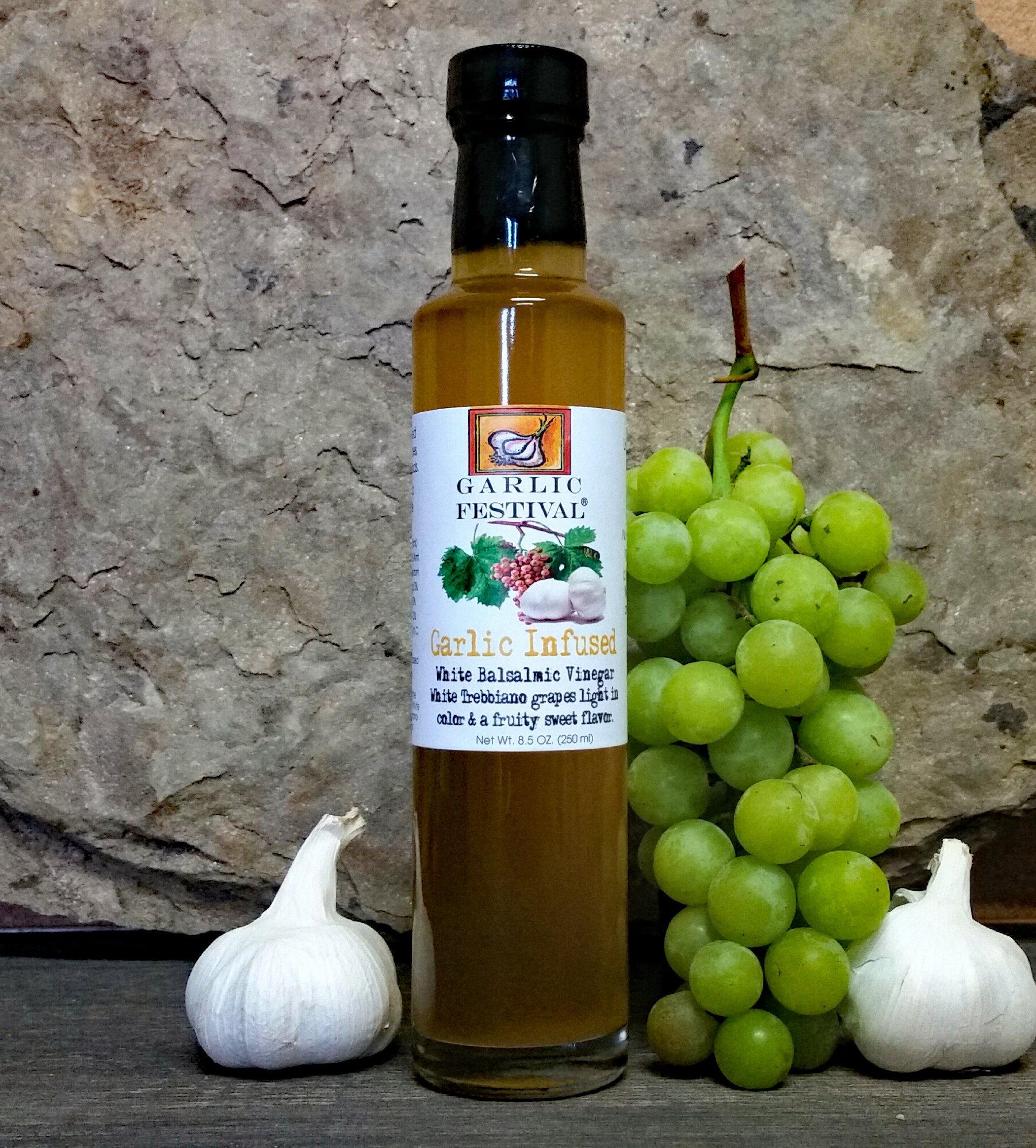 Garlic Festival Foods Garlic Infused White Balsamic Vinegar