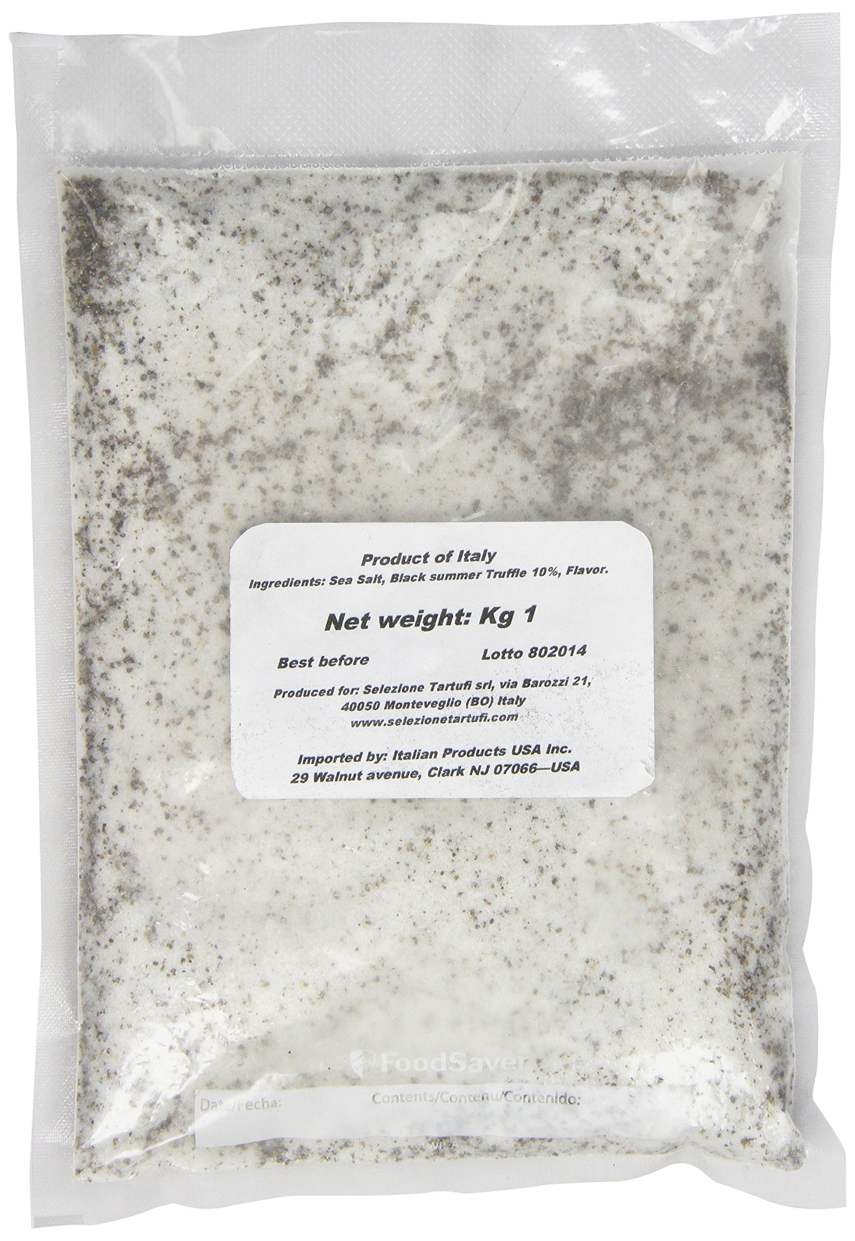 Selezione Tartufi Black Truffle Salt 10% - Gourmet Foodservice, 2.2-Pound Unit by Selezione Tartufi