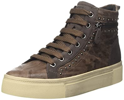 9f95fbf903 Amazon.com | Geox Women's D Hidence a Hi-Top Sneakers | Fashion Sneakers