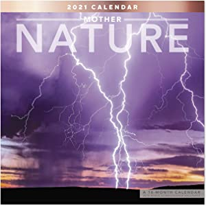 "2021 Mother Nature Wall Calendar, 12"" x 12"", Monthly (LME2091021)"