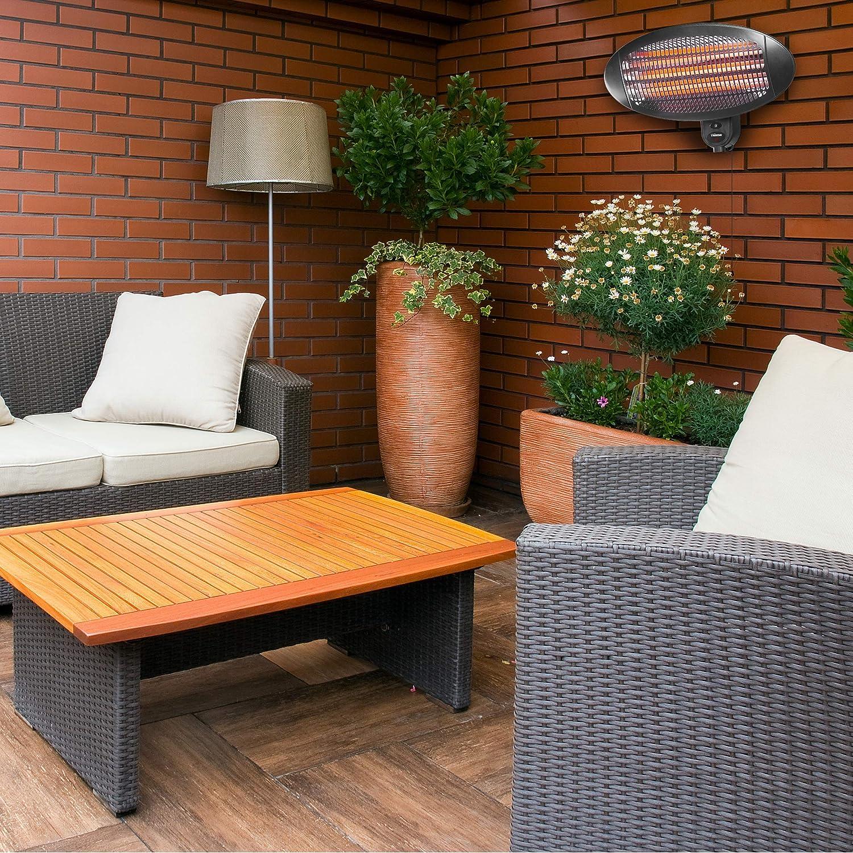 Tristar KA-5286 Calefactor para terraza, con infrarrojos, fijación a pared, ipx4, 2000 W, blanco