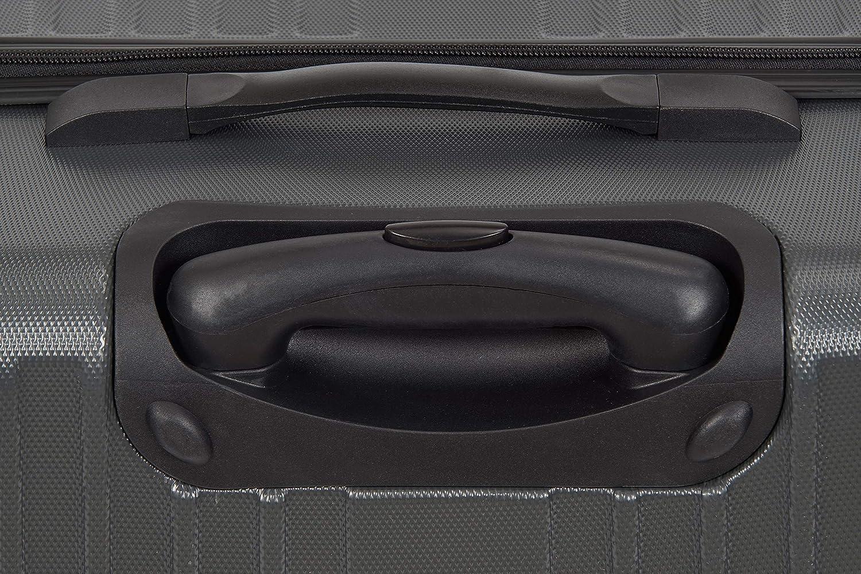 Coque Rigide en ABS 65L // 67 cm BRUBAKER Valise de Voyage//Trolley L Gris roulettes pivotantes 360/° Robuste /& Ultra l/ég/ère