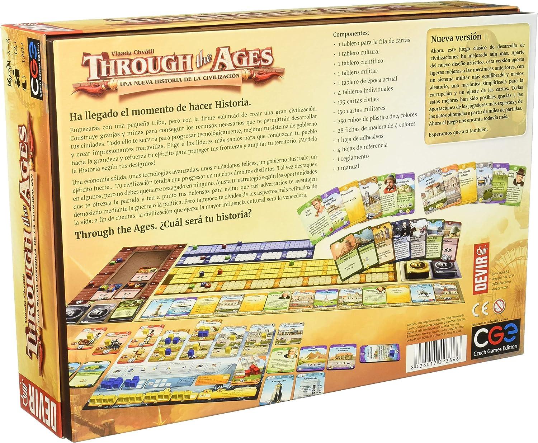 Devir - Through the Ages: Una nueva historia de la civilización, juego de mesa (BGHTAGES): Amazon.es: Juguetes y juegos