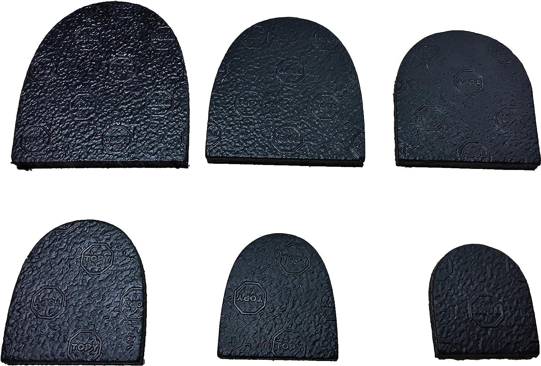 Topy Heel-Strong Rubber Heel-DIY-Shoe Repair-Long Life Heel-6 sizes
