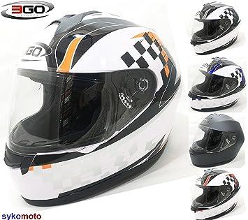 3 GO adultos E36 rápido Crash barato precio bajo casco de moto de cara completa naranja