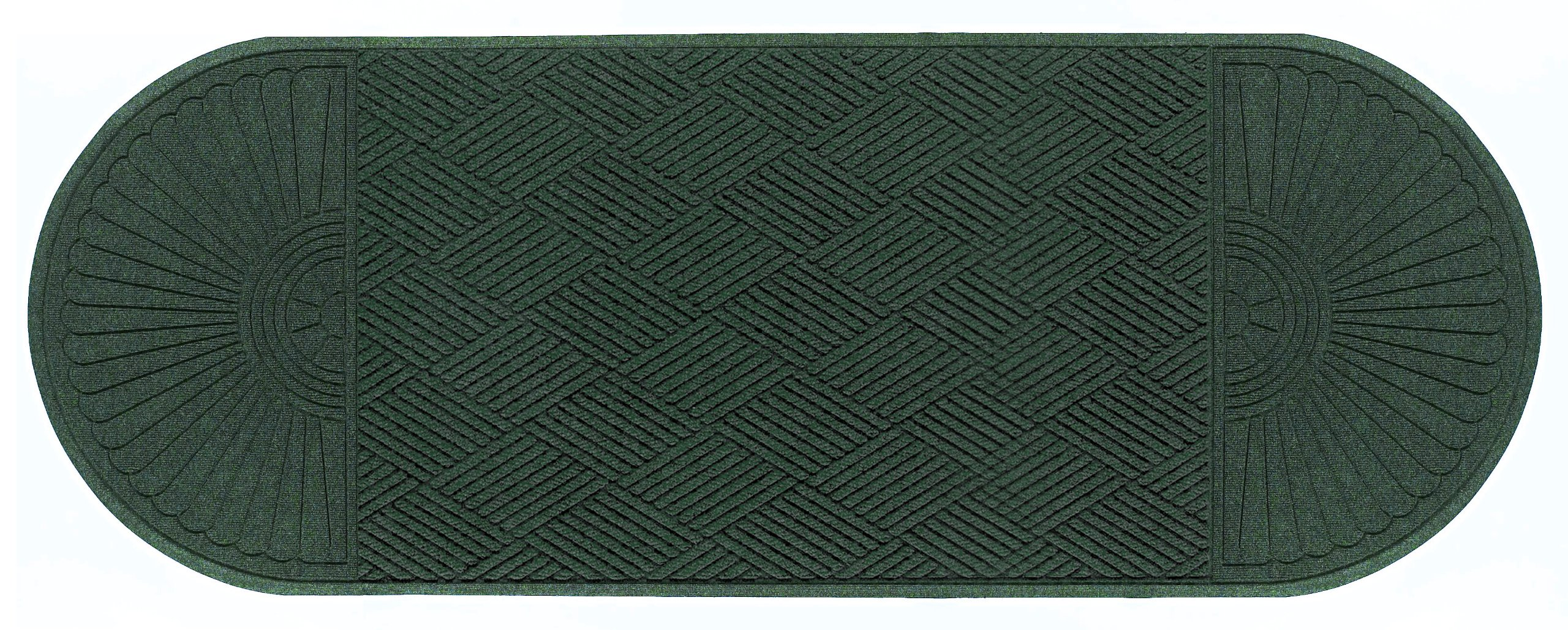 M+A Matting 2249 Waterhog Eco Grand Premier PET Polyester Fiber Double Ends Entrance Indoor/Outdoor Floor Mat, SBR Rubber Backing, 10.1' Length x 6' Width, 3/8'' Thick, Southern Pine