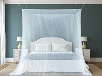 #1 Mosquito Net By NATURO for Double Bed Canopy | Largest Screen Netting Curtains | & Amazon.com: #1 Mosquito Net By NATURO for Double Bed Canopy ...