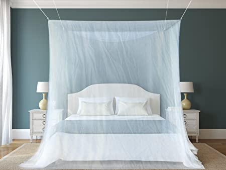 1 The Best Mosquito Net By NATURO HOME For Double Bed Canopy