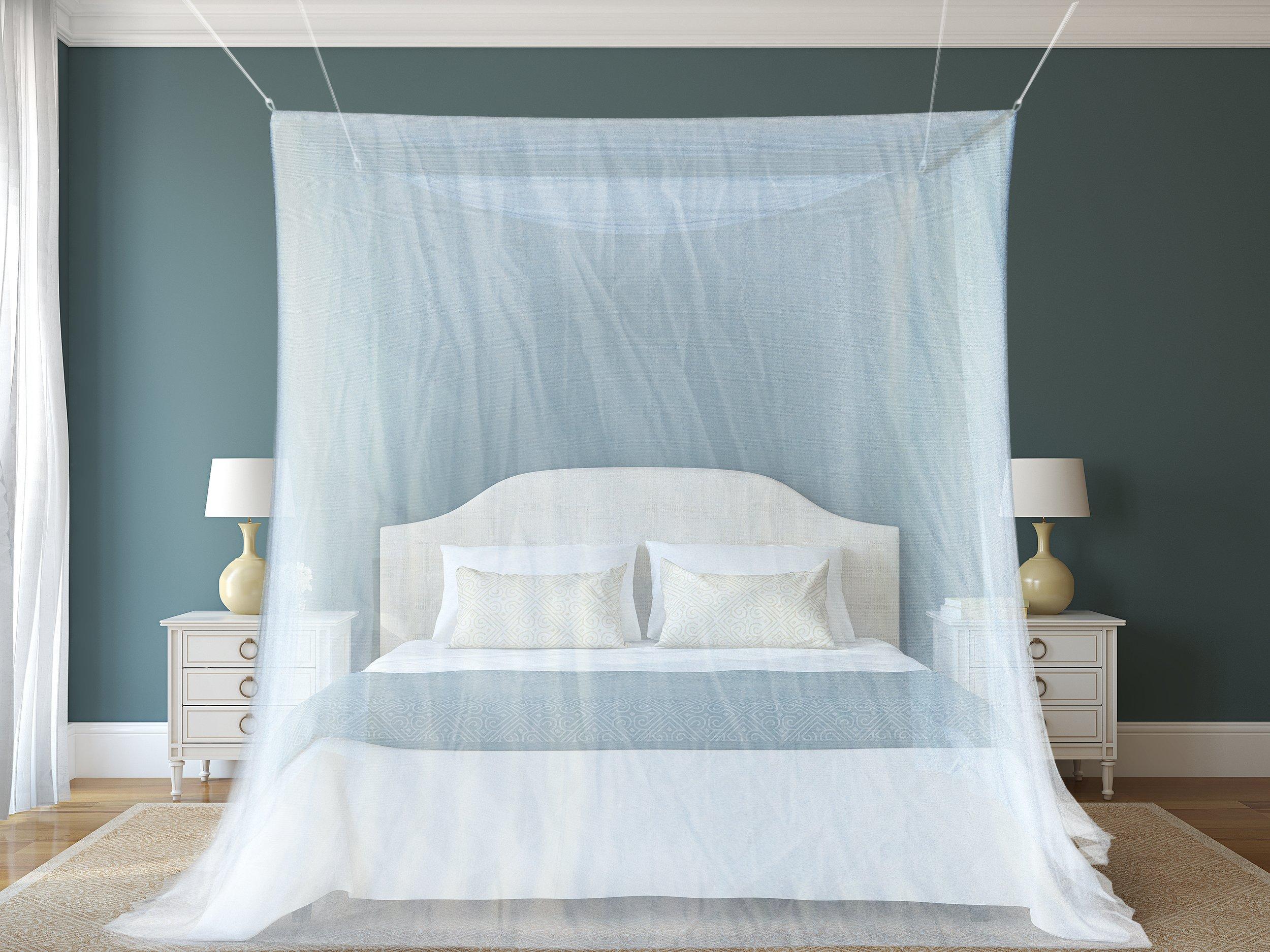 Zanzariera Da Letto : Zanzariera a tenda per letto vitutech zanzariera a baldacchino