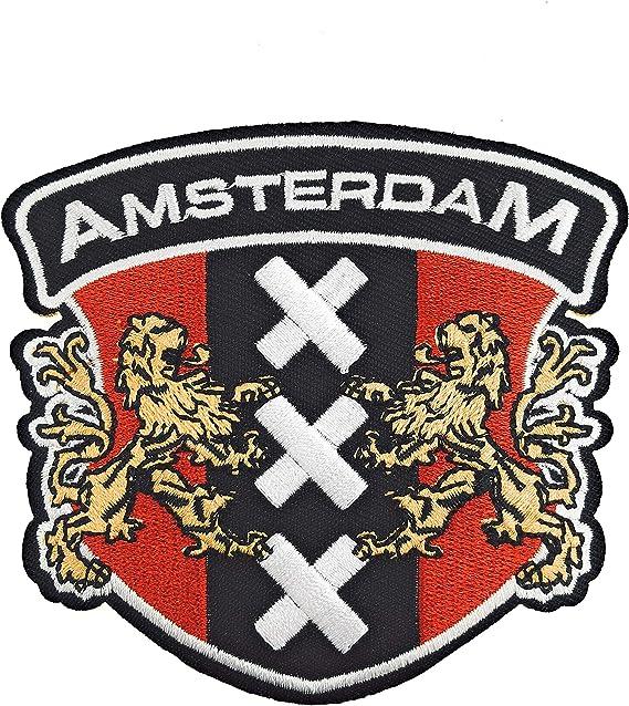 Gemelolandia Parche Bordado Termoadhesivo Escudo de Amsterdam 8,5 cm: Amazon.es: Ropa y accesorios