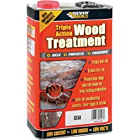 Everbuild LJUN05 5Ltr Lumberjack Triple Action Wood Treatment, Red