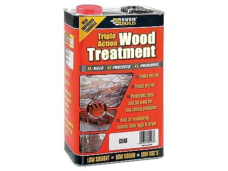 Everbuild LJUN05 5Ltr Lumberjack Triple Action Wood Treatment, Red
