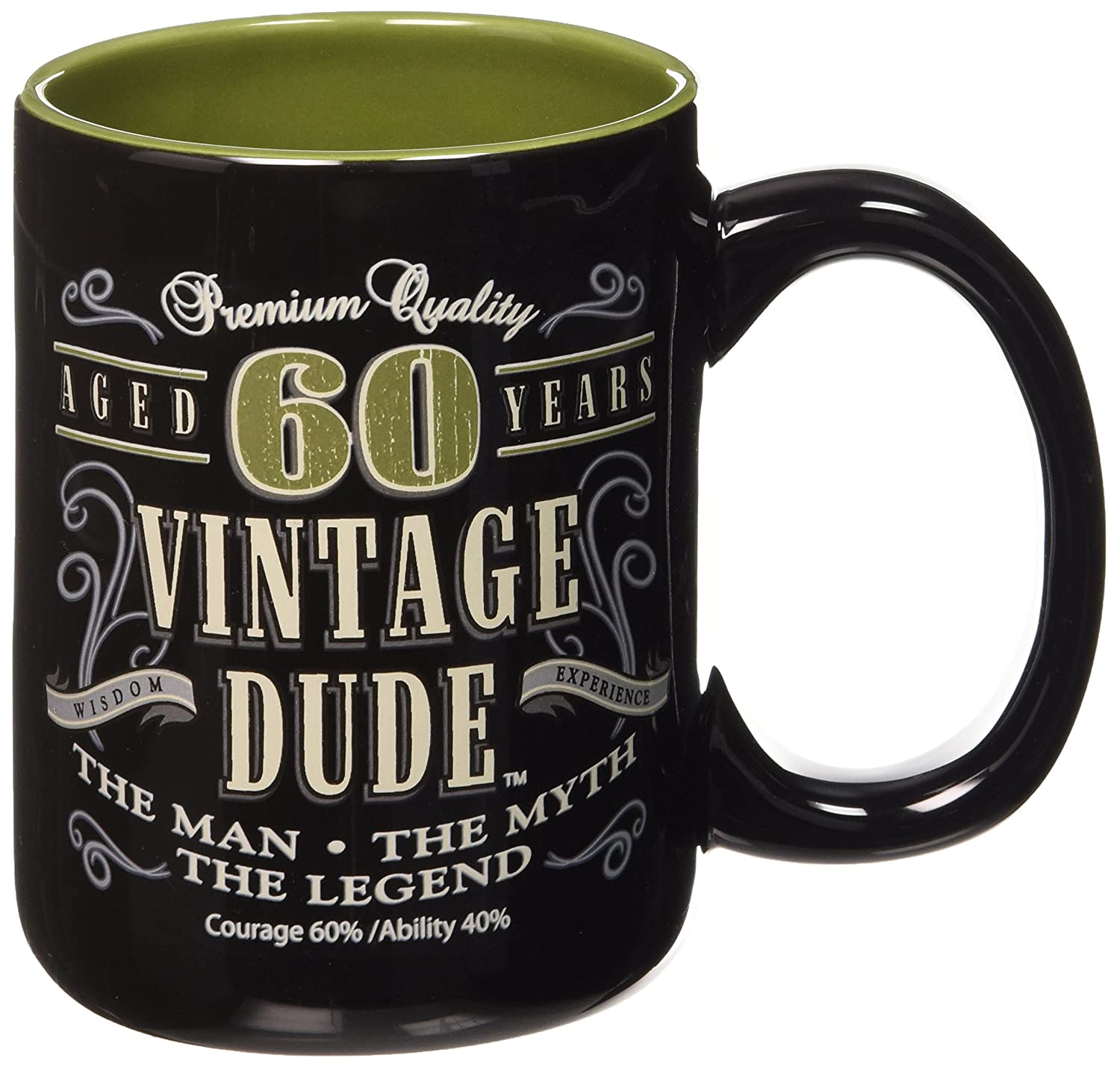 amazon com laid back cf11016 60th bd vintage dude coffee mug 14