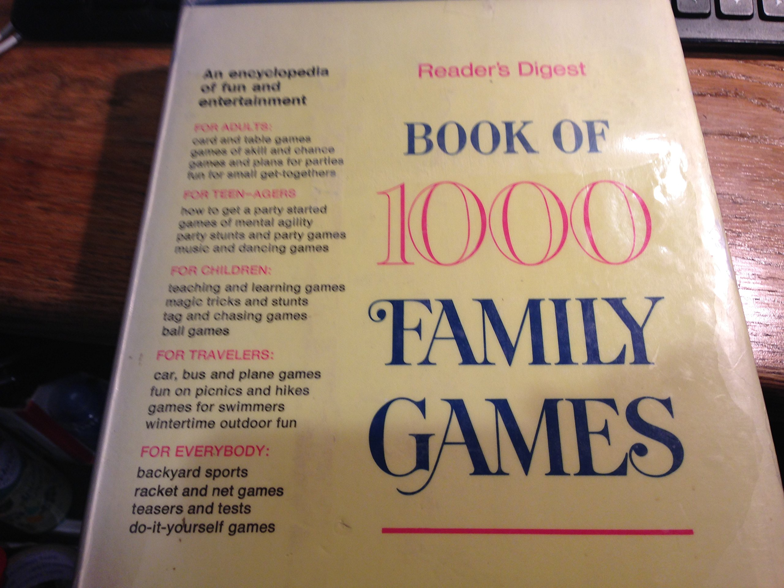 Book of 1000 family games readers digest amazon books solutioingenieria Image collections