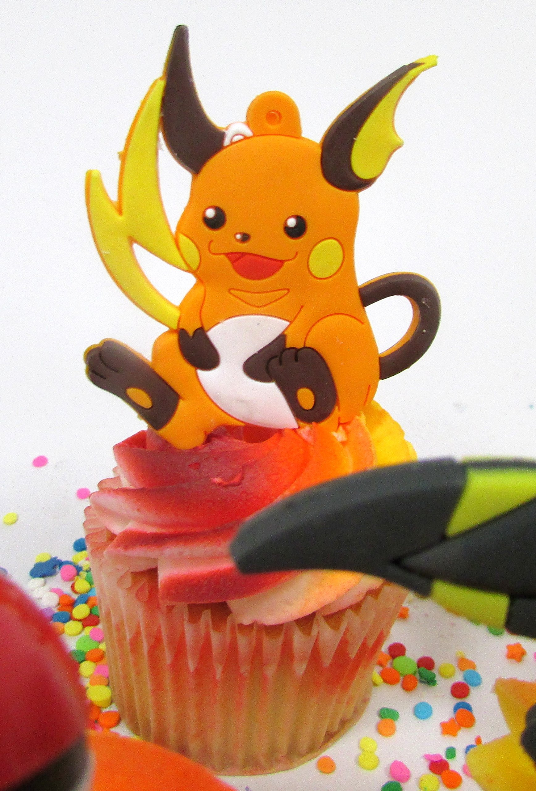 Pikachu and Friends Cupcake Topper Set with 6 Random Pocketmonster Characters and 6 Poke Balls by Cupcake Topper (Image #2)