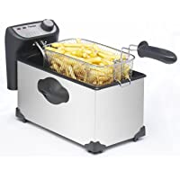 Bestron AF351 Funcooking Friteuse Inox 3,5 L pour 1 Kg Frites