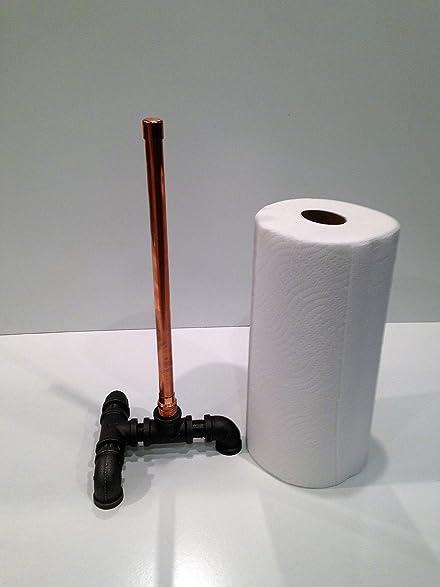 Industrial Copper Freestanding Paper Towel Holder, Plumbing Pipe Repurposed  Industrial Decor, Kitchen Decor