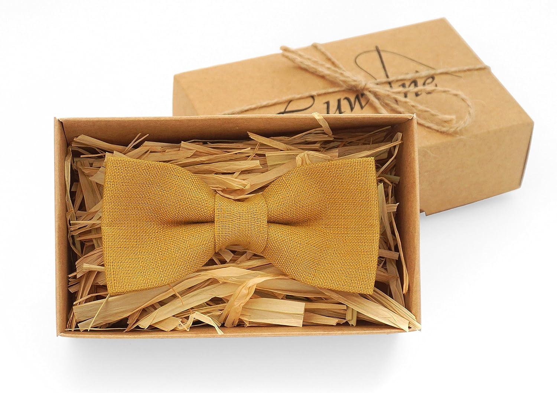 Mustard mens bow tie /mustard wedding bow tie - mustard tie set/ boys bow tie/ pocket square /pre tie bow tie/ vintage bow tie/ mustard skinny tie
