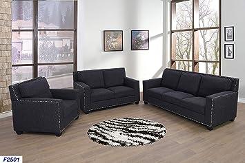 Amazon.com: Lifestyle Furniture 3-Pieces Living Room Sofa ...