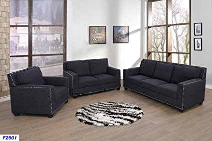 Amazoncom Lifestyle Furniture 3 Pieces Living Room Sofa Set