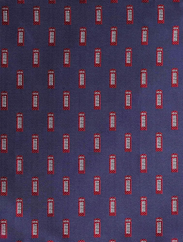 Boys Royal Blue Telephone Box Hanky Paisley of London One Size