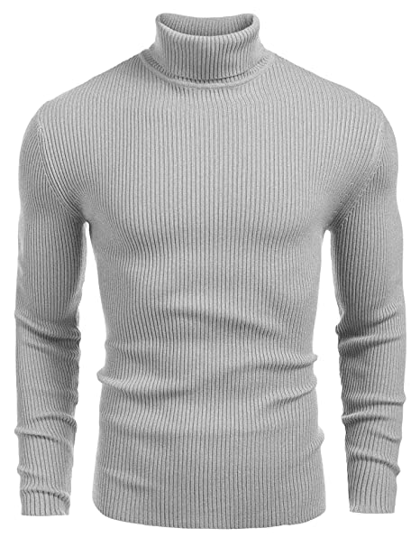 fc10efb5eca5 Coofandy Mens Jumper Turtleneck Sweater Basic Pullovers Slim Fit Knitwear   Amazon.co.uk  Clothing